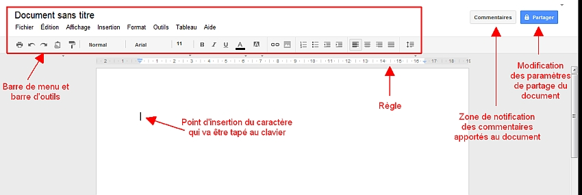 Découverte de l'Interface de Google Documents