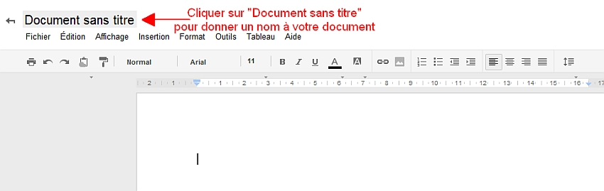 Donner un nom au document