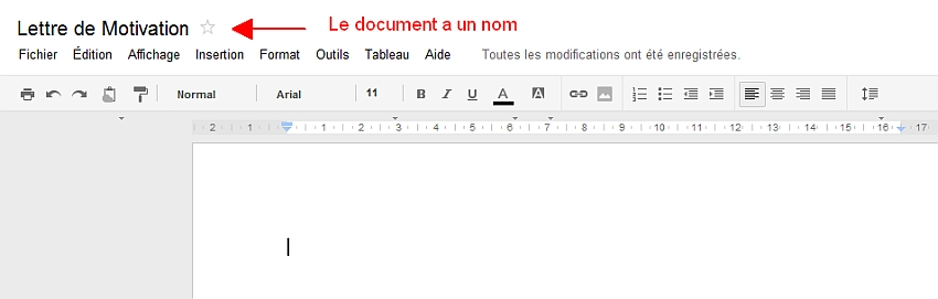 Le document a un nom