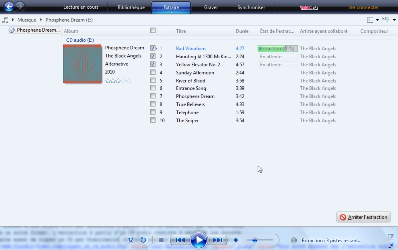 Windows Media Player - Conversion